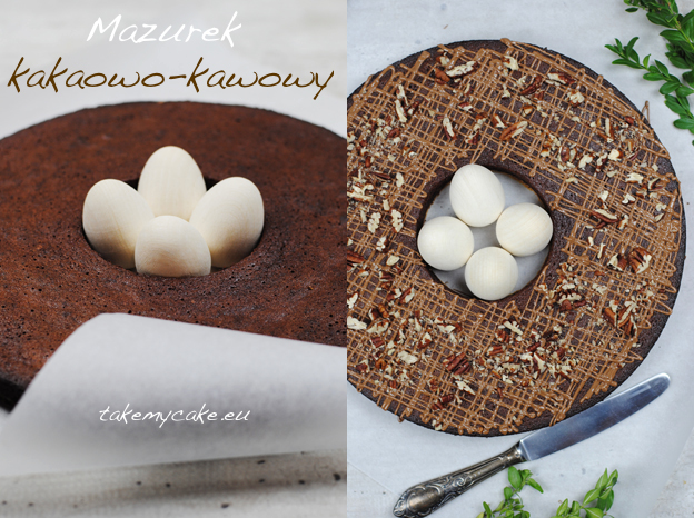 Mazurek kakaowo-kawowy
