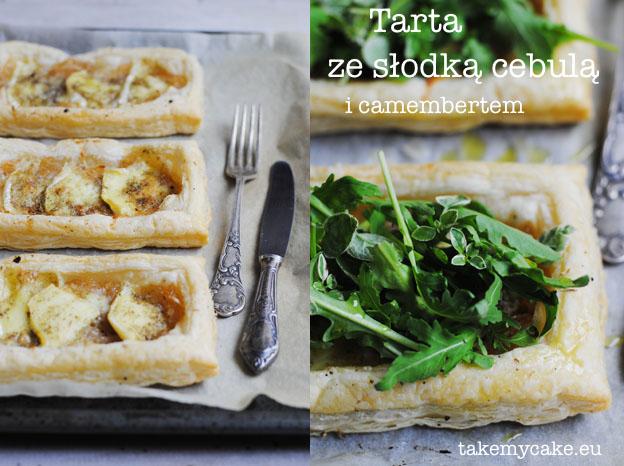 Tarta z cebula i camembertem