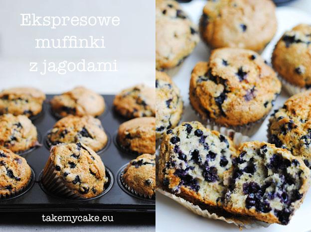 ekspresowe muffinki z jagodami