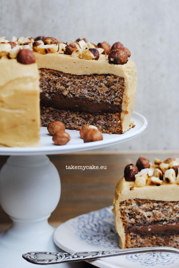 tort z maslem orzechowym i nutella1