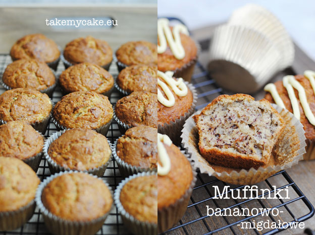 muffinki bananowo migdalowe