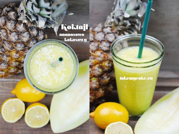 koktajl ananasowy z melonem