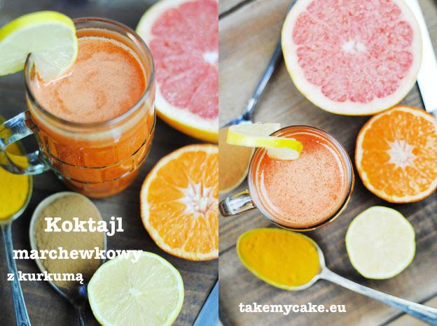 koktajl marchewkowy z kurkuma