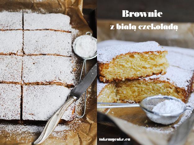 brownie z biala czekolada