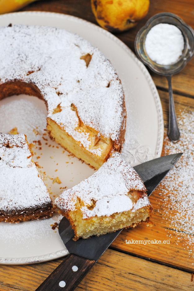 ciasto budyniowe z gruszkami