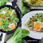 jajka na chrupiacych grzankach